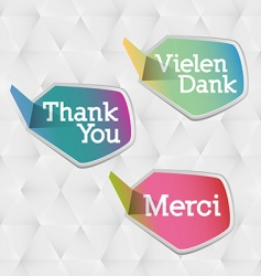thank you logo vector image
