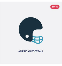 Two color american football player helmet icon vector