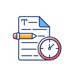 Urgent copywriting rgb color icon vector