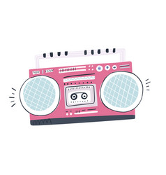 Vintage music player vector
