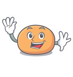 waving mochi character cartoon style vector image