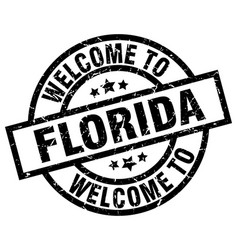 Welcome to florida black stamp vector
