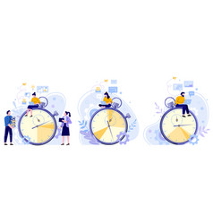 work rate time management working hours timer vector image