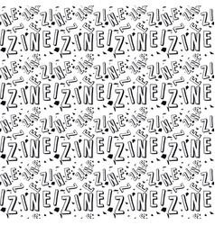 zine culture seamless pattern vector image