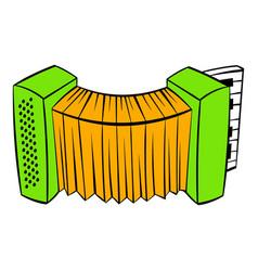 accordion icon cartoon vector image