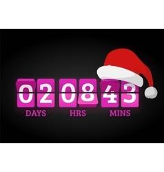 Christmas clock timer digits board panels vector