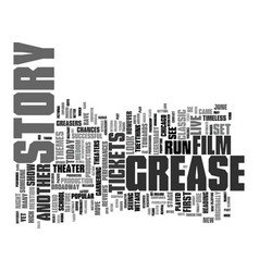 Grease tickets see a film legend live on stage vector