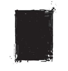 grunge frame - black vector image vector image