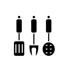 kitchenware - kitchen accessories icon vector image vector image