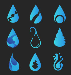 logo water collection design vector image