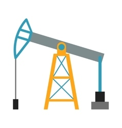 Oil rig industry business concept of derrick vector