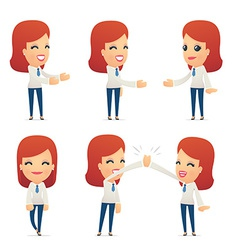 set of reception character in different poses vector image