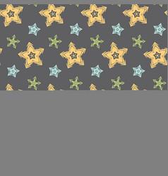 Big hand drawn stars seamless pattern vector