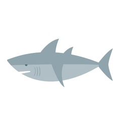 Cartoon shark vector image vector image