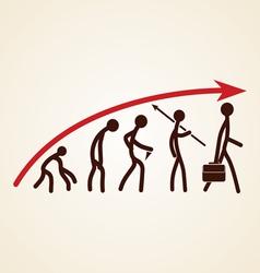 Evolution success concept vector image