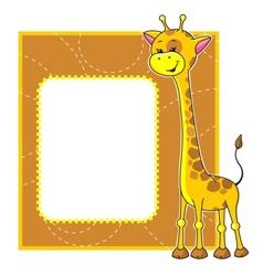 frame with giraffe vector image