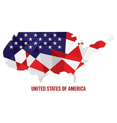 Map of USA vector image