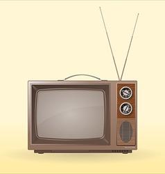old retro tv vector image
