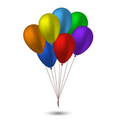 seven balloons in the colors of the rainbow vector image vector image