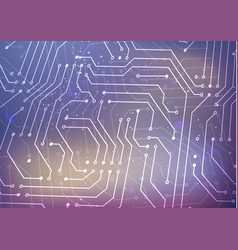 white microchip pattern on blurred background vector image vector image