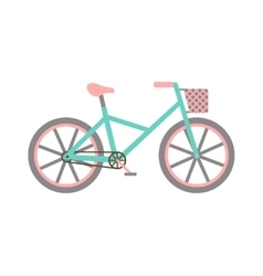 Bicycle with basket vector image