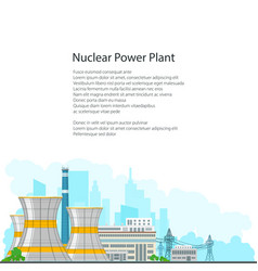 brochure nuclear power plant on white background vector image