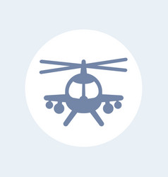 combat helicopter icon isolated over white vector image vector image