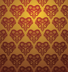 Love Ornamental Pattern vector image vector image
