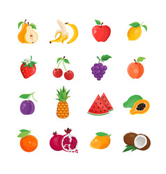 Natural food - modern line icons set vector
