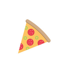 pizza slice flat icon food drink elements vector image vector image