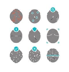 Fingerprint icons identity finger prints vector