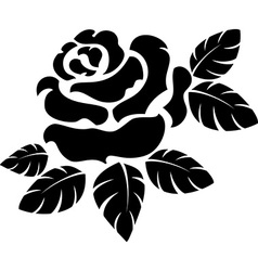 Rose silhouette vector image vector image