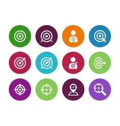 Target circle icons on white background vector image vector image