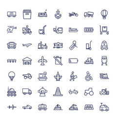 49 transportation icons vector