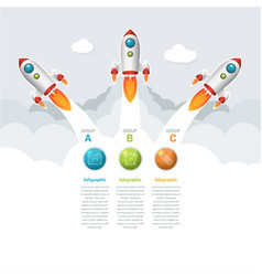 6 groups business start-up timeline infographic vector image