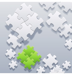 Abstract blank puzzles concept vector