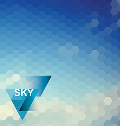 Abstract blue sky geometrical background vector