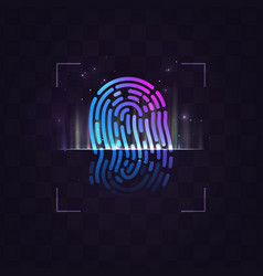 abstract fingerprint recognition system vector image