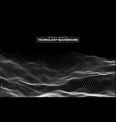 abstract technology background background 3d grid vector image