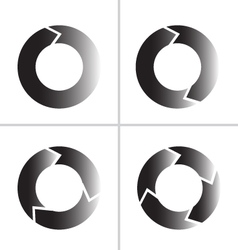 Arrow refresh reload rotation loop icon vector