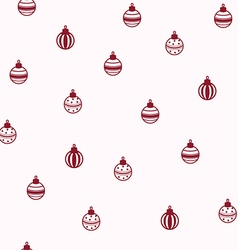 Baubles seamless pattern vector
