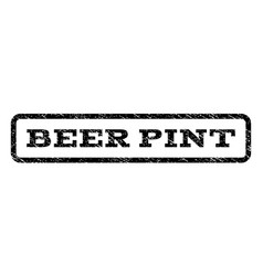 Beer pint watermark stamp vector