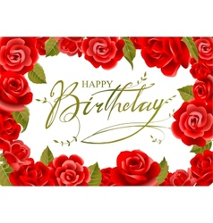 Birthday greeting card in vector image