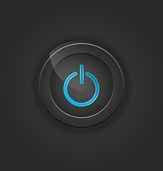 Black button power vector image