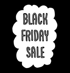 black friday sale doodle banner monochrome vector image
