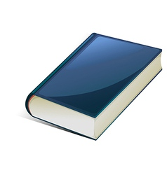 Blue book vector image