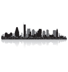 Boston USA city skyline silhouette vector