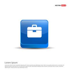 briefcase icon - 3d blue button vector image