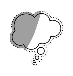 Bubble comic speakbox vector image