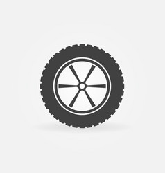 Car wheel with tyre icon or sign vector